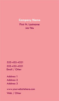 Solid Pink Business Card Template